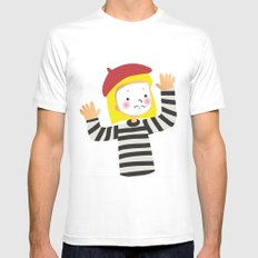 Le Mime Mens Fitted Tee White MEDIUM