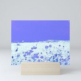 Ink Drop Blue Mini Art Print