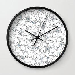 Cherry Blossom Blue - In Memory of Mackenzie Wall Clock