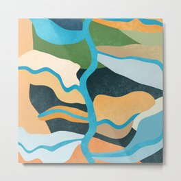 Swirly interest. #Art print #Illustration.  Metal Print