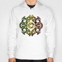 maori Hoodies featuring Rasta Colors on Maori Patterns by Lonica Photography & Poly Designs