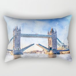 london-tower-bridge-bridge-england Rectangular Pillow