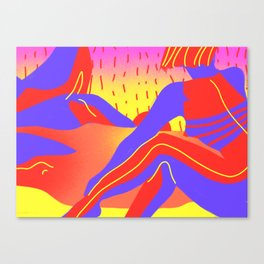 Sunset in the desert of the real Canvas Print