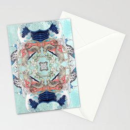 Hokusai Mandala Stationery Cards