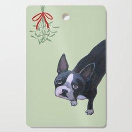Dog with Mistletoe Cutting Board