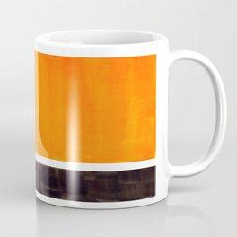 Minimalist Mid Century Modern Color Block Pop Art Rothko Inspired Golden Yellow Black Squares Coffee Mug