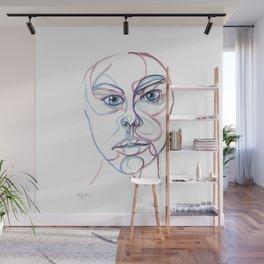 Blue Eyes Wall Mural