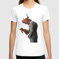 bull T-shirts featuring Bull by rob art | illustration