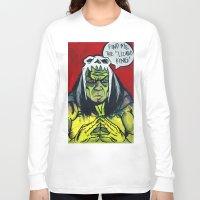 medicine Long Sleeve T-shirts featuring Medicine Man by Hugo Maldonado