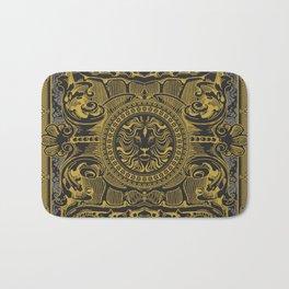 Medallion Lion Black Gold Bath Mat