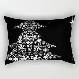 Snowflake Christmas Tree Rectangular Pillow