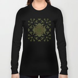 """Autumn mandala"" (Green-Grey Pattern) Long Sleeve T-shirt"