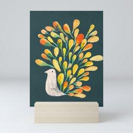 Watercolor Peacock Mini Art Print