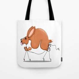 Basset on Parade Tote Bag