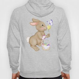 Brown Bunny and Basket Hoody