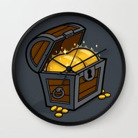 booty Wall Clocks featuring Booty by Santo76