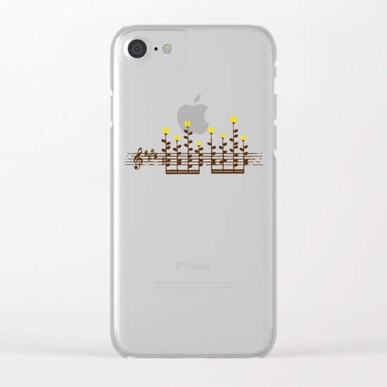 Music notes garden Clear iPhone Case