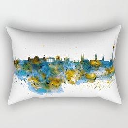 Berlin watercolor skyline Rectangular Pillow