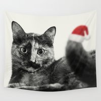 merry christmas Wall Tapestries featuring Merry Christmas! by SensualPatterns