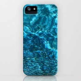 Shimmering pool water iPhone Case