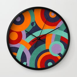 Colorful circles II Wall Clock