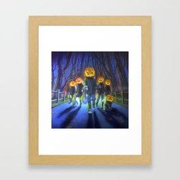 Attack of the Jack-O-Lanterns Framed Art Print