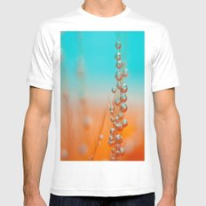 Happy  Mens Fitted Tee White MEDIUM