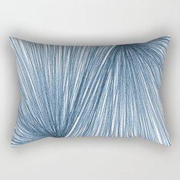 Mid Century Modern Indigo Blue Geometric Abstract Rectangular Pillow