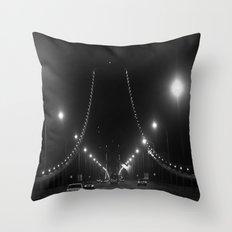 Late Nights on the Bay Bridge Throw Pillow