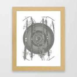 Mandala w Poles Framed Art Print