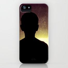 Sunset Rain Boy iPhone Case