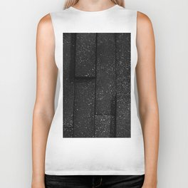 white speckled contrasted bricks - black and white Biker Tank
