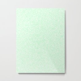Spacey Melange - White and Light Green Metal Print