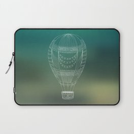 Hot air balloon line drawing Laptop Sleeve