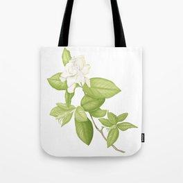 Gardenia Flower Tote Bag