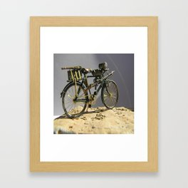 Old bicycle Zvonekmakete Framed Art Print