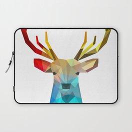Modern geometric colorful caribou illustration Laptop Sleeve