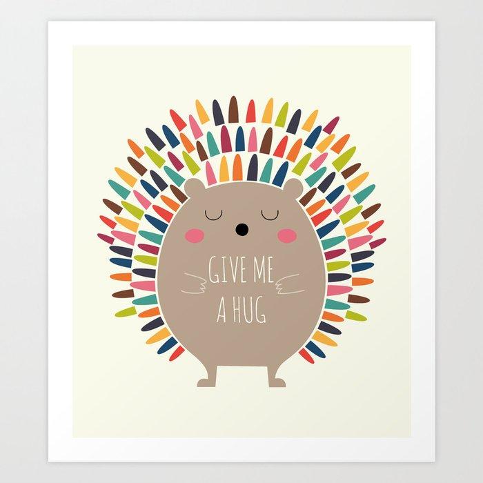 Découvrez le motif GIVE ME A HUG par Andy Westface en affiche chez TOPPOSTER