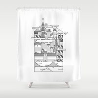 tokyo ghoul Shower Curtains featuring TOKYO by Design Made in Japan