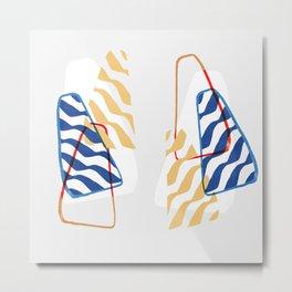 Minimal and colorful Metal Print