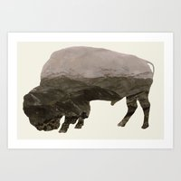 bison Art Prints featuring Bison by James Wetherington