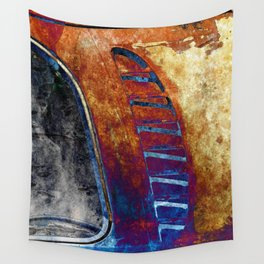 Rusted Classic Minivan Wall Tapestry
