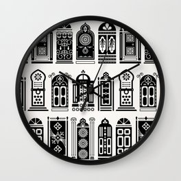 Moroccan Doors – Black Palette Wall Clock