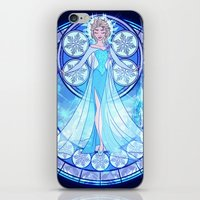 elsa iPhone & iPod Skins featuring Elsa by NicoleGrahamART