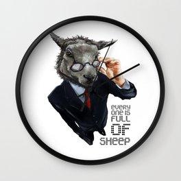 Full Of Sheep Wall Clock