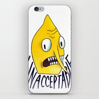 lemongrab iPhone & iPod Skins featuring Unacceptable | Lemongrab by ScarlettDesigns