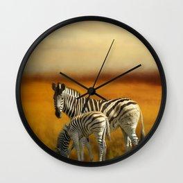Zebra Family Wall Clock