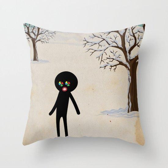 b r r r Throw Pillow