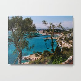 Port of Nice Through the Trees Metal Print