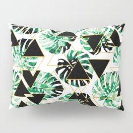 Monstera Leaf Triangle Pillow Sham